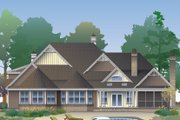 European Style House Plan - 5 Beds 4 Baths 3222 Sq/Ft Plan #929-1020 Exterior - Rear Elevation