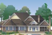 European Style House Plan - 5 Beds 4 Baths 3222 Sq/Ft Plan #929-1020 Exterior - Rear Elevation