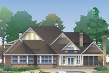 Home Plan - European Exterior - Rear Elevation Plan #929-1020