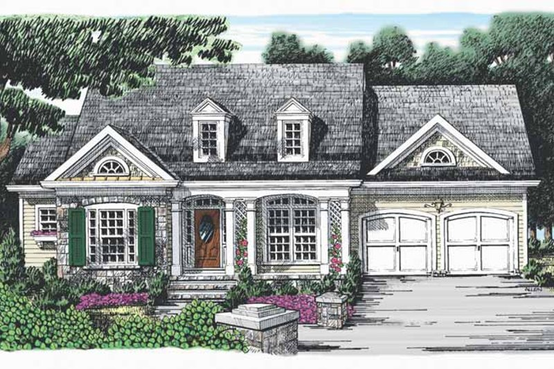 Ranch Exterior - Front Elevation Plan #927-851