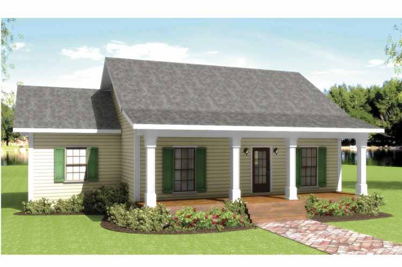 Country Exterior - Front Elevation Plan #44-208 - Houseplans.com