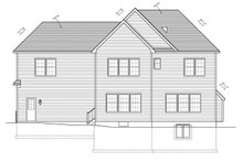 Colonial Exterior - Rear Elevation Plan #1010-86