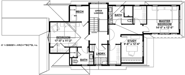 Traditional Floor Plan - Upper Floor Plan Plan #928-286