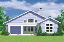 House Blueprint - Craftsman Exterior - Rear Elevation Plan #72-1137