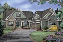 Craftsman Exterior - Front Elevation Plan #929-982