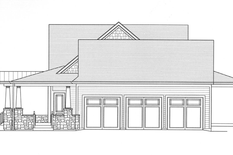 Craftsman Exterior - Other Elevation Plan #46-822 - Houseplans.com