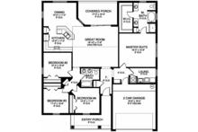 Traditional Floor Plan - Main Floor Plan Plan #1058-121