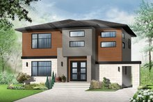 Architectural House Design - Contemporary Exterior - Front Elevation Plan #23-2586