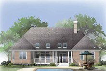 Home Plan - Traditional Exterior - Rear Elevation Plan #929-819
