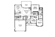 Ranch Style House Plan - 3 Beds 2 Baths 1718 Sq/Ft Plan #46-832 Floor Plan - Main Floor Plan