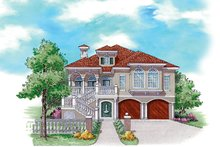 Home Plan - Mediterranean Exterior - Front Elevation Plan #930-158