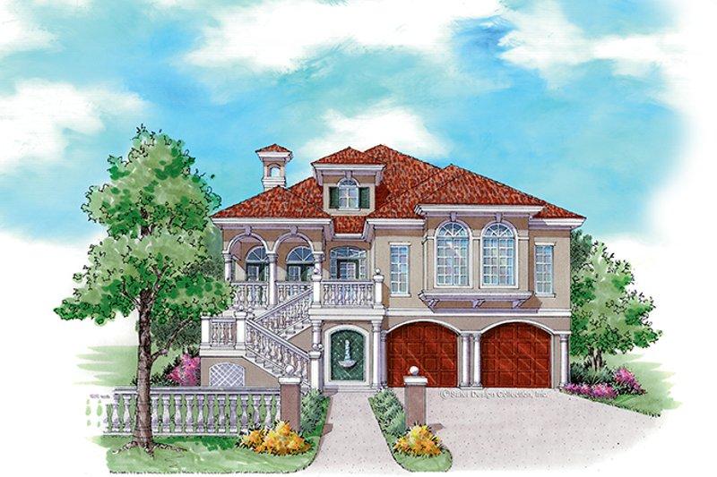 Architectural House Design - Mediterranean Exterior - Front Elevation Plan #930-158
