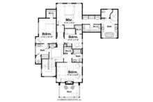 Craftsman Floor Plan - Upper Floor Plan Plan #928-239