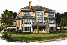 House Plan Design - Prairie Exterior - Rear Elevation Plan #453-184