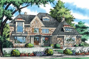 European Exterior - Front Elevation Plan #929-868