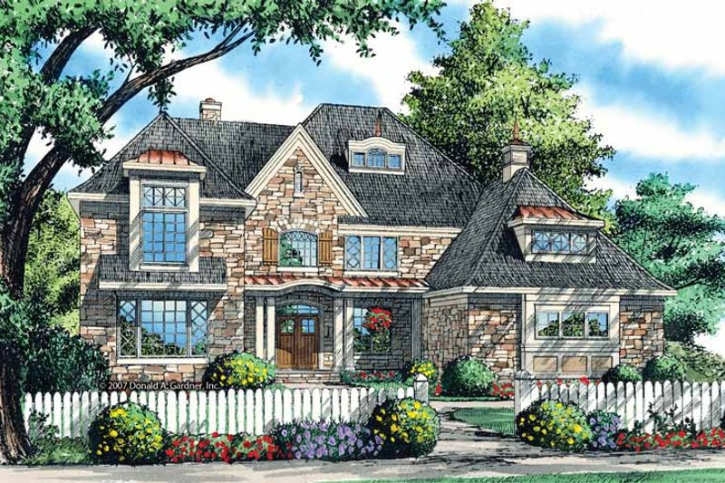 Dream House Plan - European Exterior - Front Elevation Plan #929-868