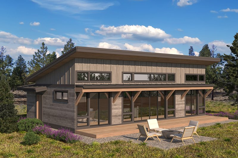 Architectural House Design - Modern Exterior - Front Elevation Plan #895-135