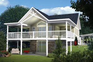 Country Exterior - Front Elevation Plan #25-4580