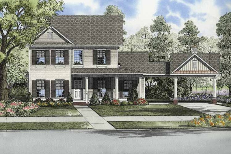 House Plan Design - Colonial Exterior - Front Elevation Plan #17-2872