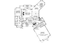 Craftsman Floor Plan - Main Floor Plan Plan #929-970