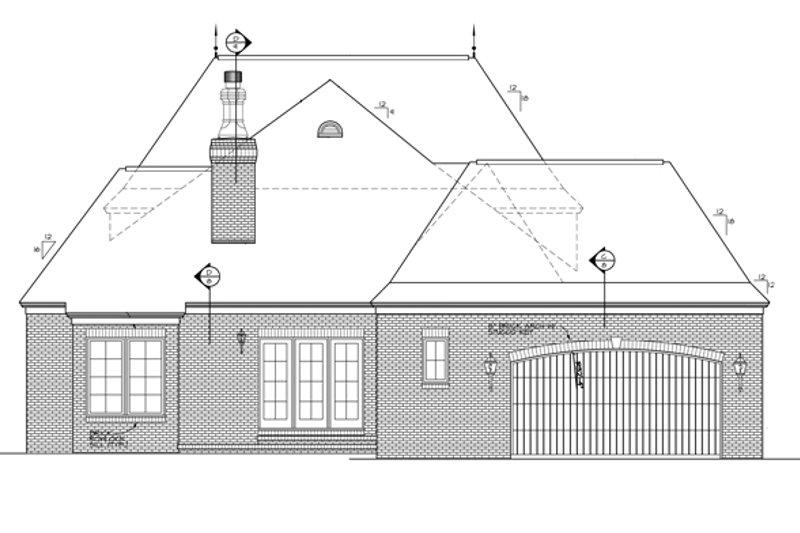 Country Exterior - Rear Elevation Plan #453-389 - Houseplans.com