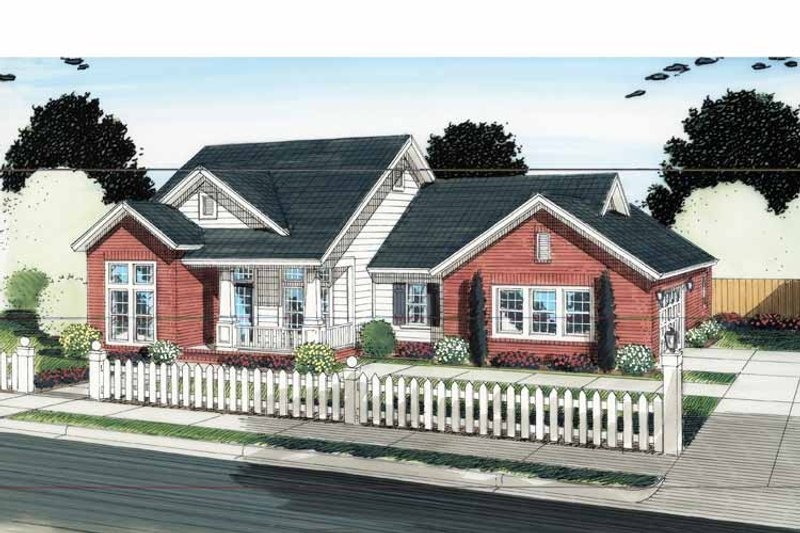House Plan Design - Traditional Exterior - Front Elevation Plan #513-2128