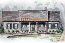 Home Plan - Country Exterior - Front Elevation Plan #54-309