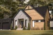 House Plan Design - Contemporary Exterior - Front Elevation Plan #23-2726