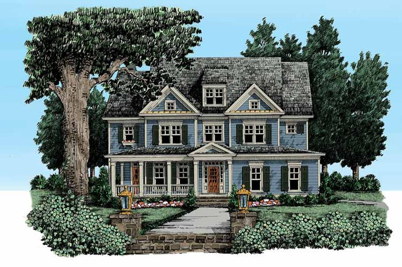 Craftsman Exterior - Front Elevation Plan #927-325