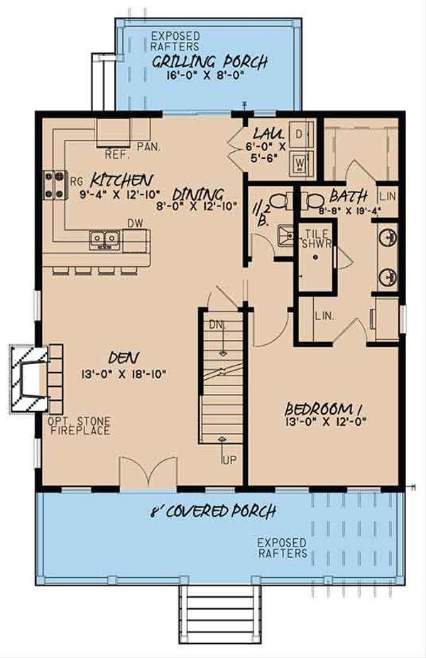 Country Floor Plan - Main Floor Plan Plan #17-3395