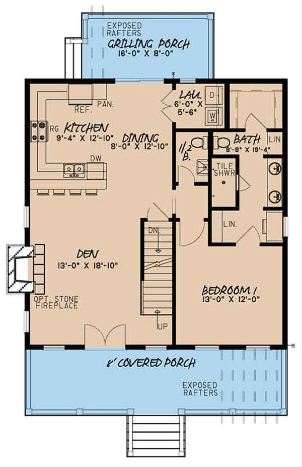 Country Floor Plan - Main Floor Plan Plan #17-3395