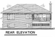 Contemporary Style House Plan - 3 Beds 2 Baths 1662 Sq/Ft Plan #18-305 Exterior - Rear Elevation