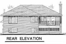 House Blueprint - Contemporary Exterior - Rear Elevation Plan #18-305