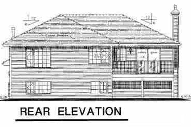 Contemporary Exterior - Rear Elevation Plan #18-305 - Houseplans.com