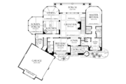 Craftsman Style House Plan - 4 Beds 4 Baths 3014 Sq/Ft Plan #929-937 Floor Plan - Main Floor Plan