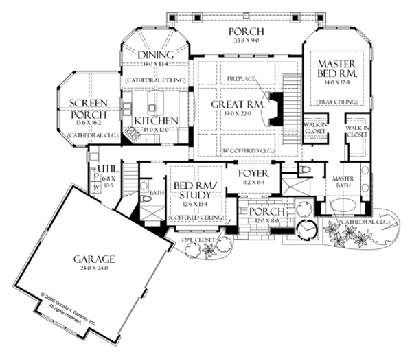 Craftsman Floor Plan - Main Floor Plan Plan #929-937