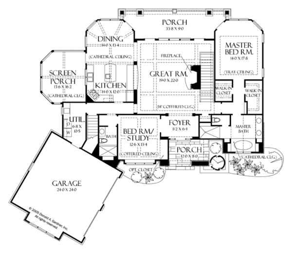 Craftsman Floor Plan - Main Floor Plan Plan #929-937