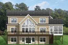 Home Plan - Colonial Exterior - Rear Elevation Plan #1010-109