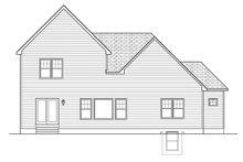 Colonial Exterior - Rear Elevation Plan #1010-150