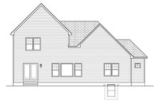 Home Plan - Colonial Exterior - Rear Elevation Plan #1010-150