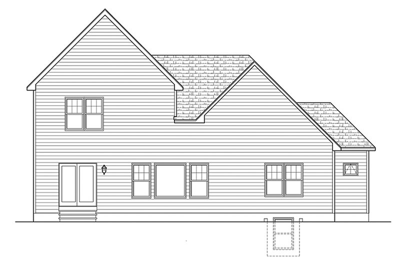 Colonial Exterior - Rear Elevation Plan #1010-150 - Houseplans.com