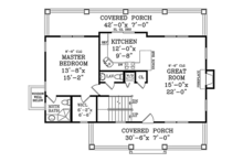 Craftsman Floor Plan - Main Floor Plan Plan #314-283