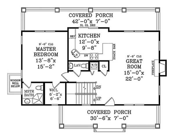 Craftsman Floor Plan - Main Floor Plan Plan #314-283
