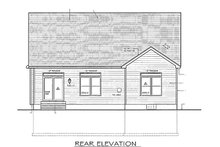 House Plan Design - Ranch Exterior - Rear Elevation Plan #1010-22