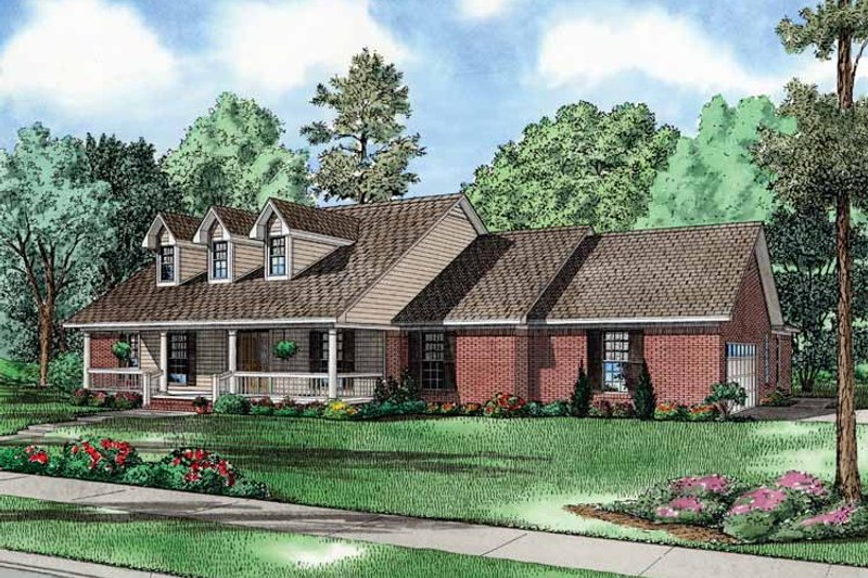 Country Exterior - Front Elevation Plan #17-2749 - Houseplans.com