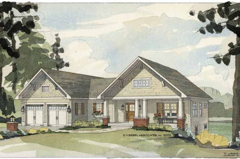 Craftsman Exterior - Front Elevation Plan #928-85