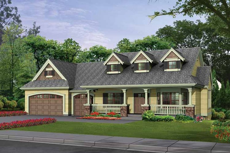Craftsman Exterior - Front Elevation Plan #132-343
