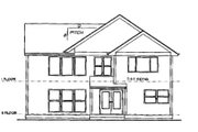 Bungalow Style House Plan - 4 Beds 2.5 Baths 2146 Sq/Ft Plan #53-240 Exterior - Rear Elevation