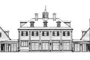 Colonial Style House Plan - 5 Beds 3.5 Baths 3450 Sq/Ft Plan #72-184 Exterior - Rear Elevation
