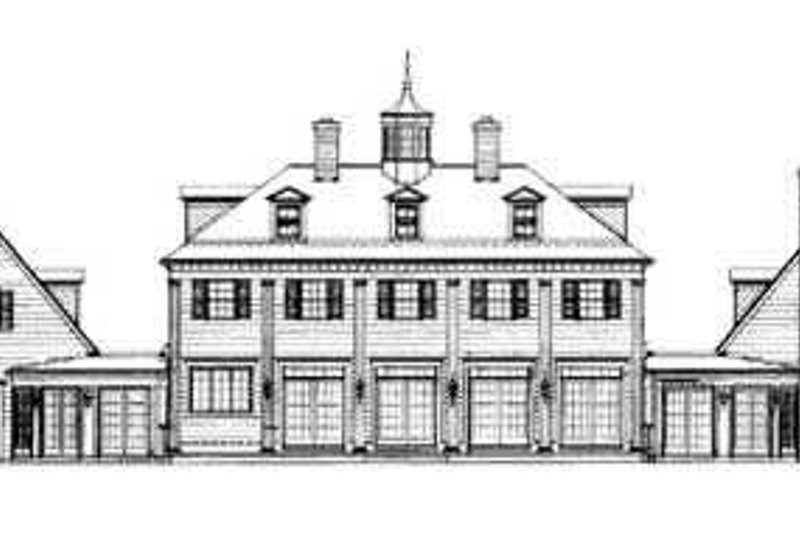 House Plan Design - Colonial Exterior - Rear Elevation Plan #72-184